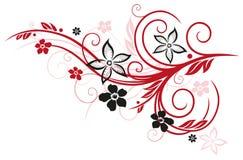 Fiori, elemento floreale Immagini Stock