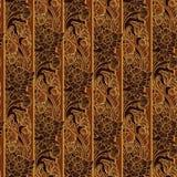 Fiori esotici stilizzati Ornamento sudorientale di Traditionaln Asia Popolare nella decorazione delle tempie di Buddha Ritmo vert Immagine Stock Libera da Diritti