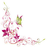 Fiori, farfalla Immagini Stock Libere da Diritti