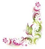 Fiori, farfalla Immagini Stock