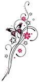 Fiori, farfalla, viticcio Fotografia Stock