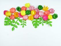 Fiori fatti di carta Il bouganvilla di carta di Flower Sorgente fotografia stock libera da diritti