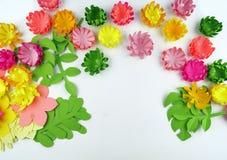 Fiori fatti di carta Il bouganvilla di carta di Flower Sorgente fotografie stock libere da diritti
