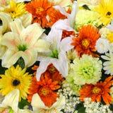 Fiori, fiori resi di tessuto variopinti Fotografia Stock Libera da Diritti