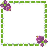 Fiori, foglie verdi e bacche rosa Illustrazione Vettoriale