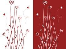 Fiori a forma di del cuore illustrazione vettoriale