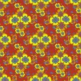 Fiori gialli su un modello senza cuciture del bello fondo Fotografia Stock Libera da Diritti