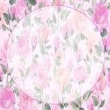Fiori impressionisti del fiore di Rosa della pittura a olio Fotografia Stock Libera da Diritti