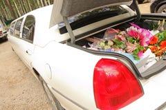 Fiori in limousine Immagine Stock