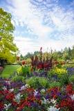 Fiori luminosi nei giardini di Butchart, Victoria, BC, il Canada Fotografia Stock