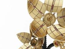 Fiori meccanici. Stile di Steampunk. illustrazione di stock