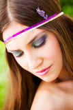 Fiori nei capelli immagini stock libere da diritti