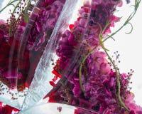 Fiori nel ghiaccio Fotografie Stock Libere da Diritti
