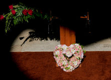 Fiori pronti per funerale fotografie stock
