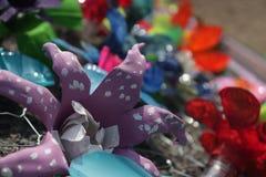 fiori riciclati Immagine Stock