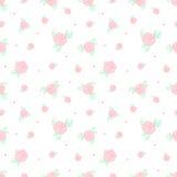 Fiori rosa d'annata minimalistic di vettore retro Fotografia Stock Libera da Diritti