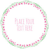 Fiori rosa e vettore fresco delle foglie verdi royalty illustrazione gratis