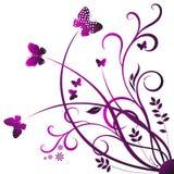Farfalla di turbinio Fotografie Stock