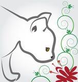 fiori sententi l'odore del gatto royalty illustrazione gratis
