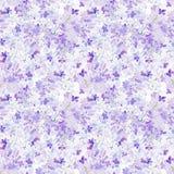 Fiori senza cuciture del lillà del fondo dell'acquerello Fotografia Stock