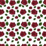 Fiori senza cuciture del modello di Rosa per progettazione del fondo fotografia stock libera da diritti