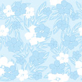 Fiori senza giunte blu illustrazione di stock