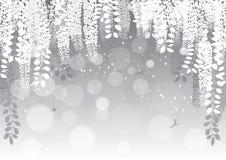 fiori su un fondo grigio Illustrazione di vettore Fotografia Stock