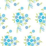 Fiori teneri blu del nontiscordardime nel retro stile Immagini Stock