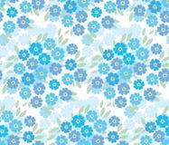 Fiori teneri blu del nontiscordardime nel retro stile Fotografie Stock