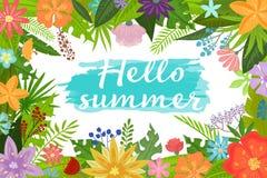 Fiori tropicali di estate Immagini Stock
