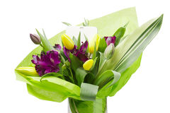 Fiori viola di Alstroemeria Fotografie Stock