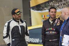 Fiorillo cipriani rally driver Stock Image