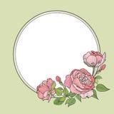 Fiorisca il blocco per grafici Bordo floreale dentellare Fondo d'annata di flourish nel vict illustrazione di stock
