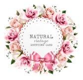 Fiorisca il fondo fatto dai fiori rosa e bianchi illustrazione vettoriale