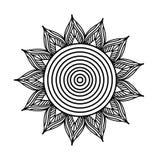 Fiorisca la pagina adulta orientale del libro da colorare dell'elemento decorativo dell'ornamento della mandala illustrazione di stock