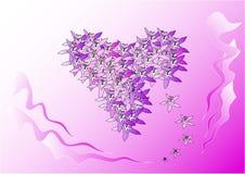 Fiorisce il cuore Immagini Stock