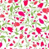 Fiorisce il modello senza cuciture con i tulipani rossi Fotografie Stock