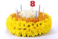 Fiorisce la torta di compleanno Immagini Stock