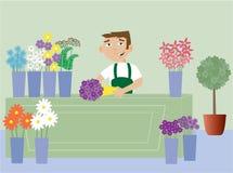 fiorista royalty illustrazione gratis