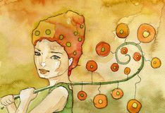 Fiorista, royalty illustrazione gratis