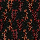 Fioriture del Wildflower di Boho da ogni parte del vettore della stampa Floreale variopinto royalty illustrazione gratis