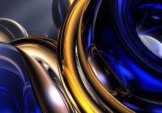 Fios 01 de Golden&blue Foto de Stock Royalty Free
