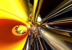 Fios 02 de Red&yellow Imagem de Stock Royalty Free