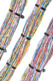 Fios com cintas plásticas Fotografia de Stock Royalty Free