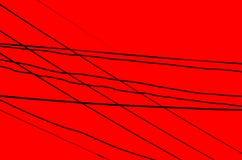 Fios cruzados sobre uma obscuridade - fundo vermelho Foto de Stock Royalty Free