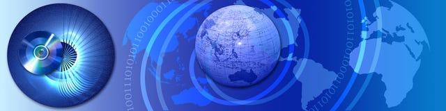 Fios da bandeira, mundo, conexões Imagens de Stock