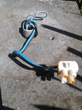 Fios da eletricidade Foto de Stock Royalty Free