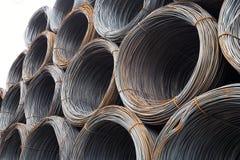 Fios de aço imagens de stock