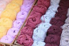 fios de l?s Multi-coloridos foto de stock royalty free
