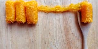`Fios de ovos or Foi thong`  dessert made from egg yolks. stock photography